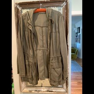 Army green MAX JEANS tencel jacket